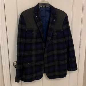 Banana Republic plaid blazer